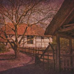 vintage farm building