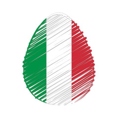 Italian flag in easter egg
