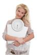 Blondine isoliert - Körpergewicht - Diät