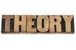 theory word in wood type