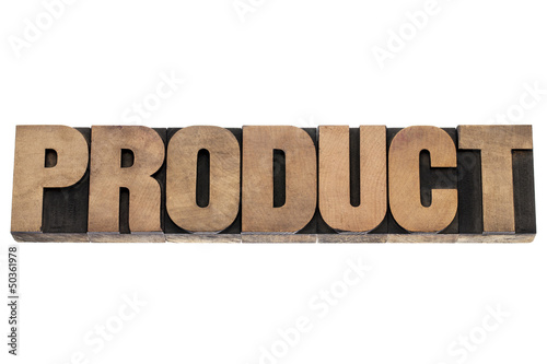 product word in wood type