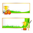 vector illustration of sports banner with sports equipment