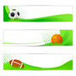 vector illustration of sports banner with balls