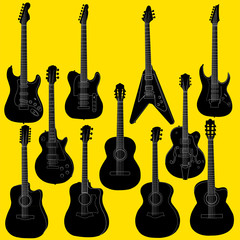 Guitar vector set