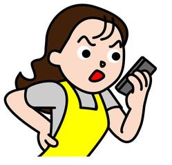 電話で怒鳴る女性