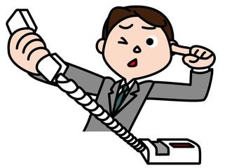 電話で怒鳴られるビジネスマン