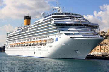 Kreuzfahrtschiff Hafen Valletta Malta