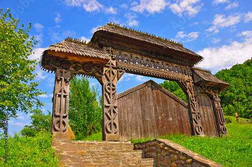 Wooden gate of time