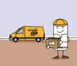Livreur et sa camionette - livraison 48 heures