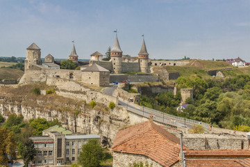Old castle in  Kamianets Podilskyi, Ukraine, Europe.
