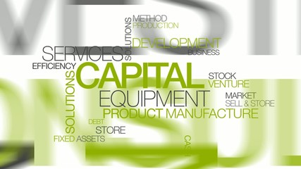 Capital equipment solutions word tag cloud animation video
