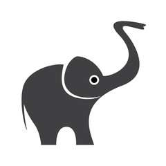 Vector Happy Logo elephant