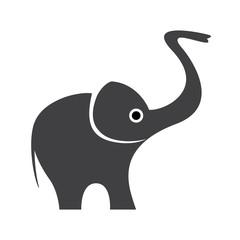 Vector Happy Logo elephant