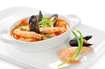 fresh seafood soup