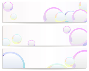 banners with colorful bubbles