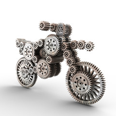 motobike made of gears