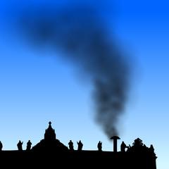 peterdom mit schwarzem rauch II