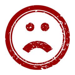 stempel rund smilie traurig I