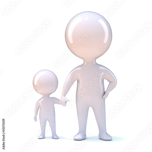 Parent and child hold hands