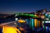 Old town Kaleici in Antalya, Turkey at night