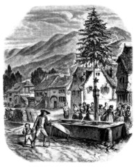 Alsace-Vosges : Trad. Christmas/NewYear - 19th century