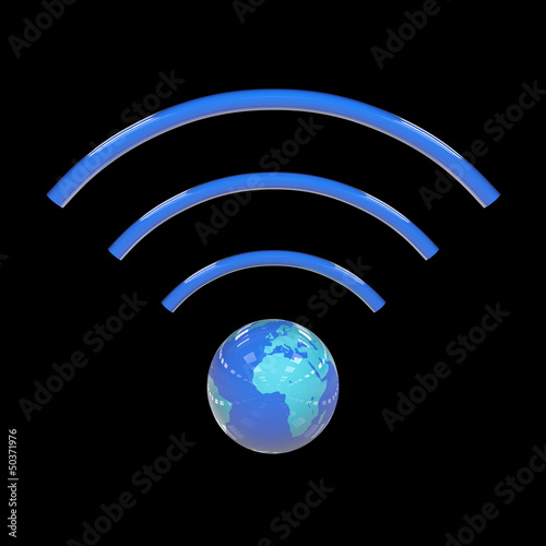 Wifi sign - 3D Render