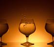 three glass for cognac
