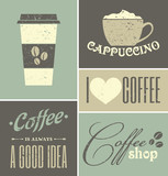 Fototapety Vintage Coffee Collage