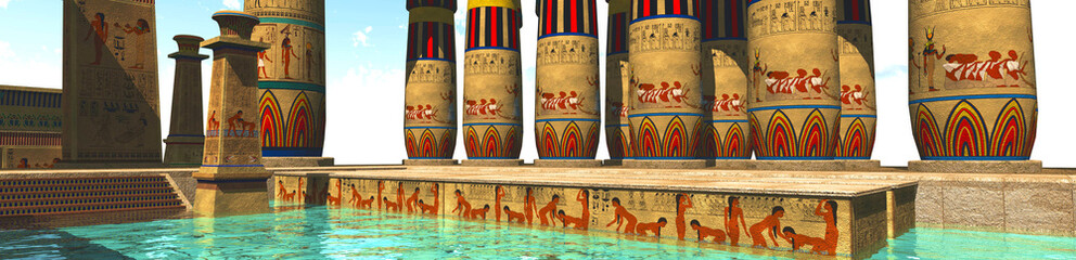 Egyptian swimming pool
