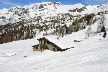 paesaggio invernale (valle d'Ayas)