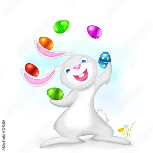 Juggling Easter Bunny