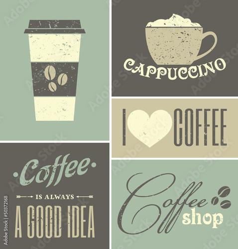 Fototapeta Vintage Coffee Collage