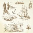 nautical set - hand drawn collection