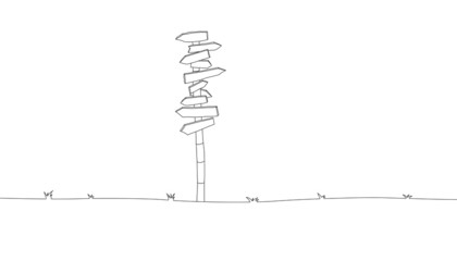 Illustration of a sign post