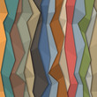 3d colorful paper background - origami style