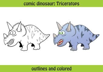 vektor dinosaurier triceratops