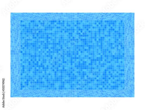 Swimmingpool blau, leer