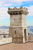 Tower of Castle of Montjuic, Barcelona, Spain poster