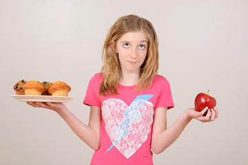female child healthy eating concept