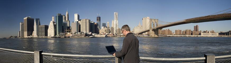 Business man in Manhattan