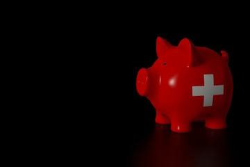 Piggy bank - swiss flag