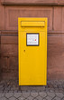 Yellow mailbox in Offenburg, Germany