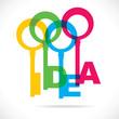 color idea word key concept