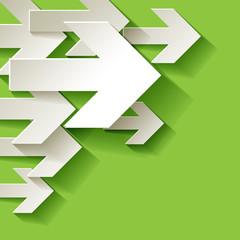 Pfeil Weiter Ecke Hintergrund grün