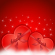 red hearts gift