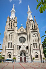 Neo-gothic Roman Catholic Cathedral in  Jakarta, on Java,  Indon