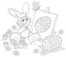 Easter Bunny rysunek zdobione Easter egg
