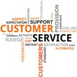 word cloud - customer service