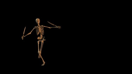 Skeleton Dances with Swords