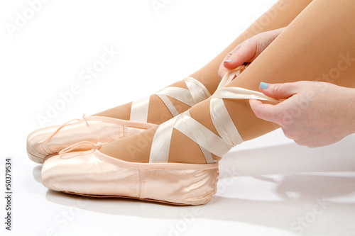 Tying Ballet Slippers